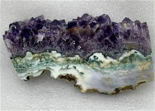 Rare mix of Amethyst and moss agate