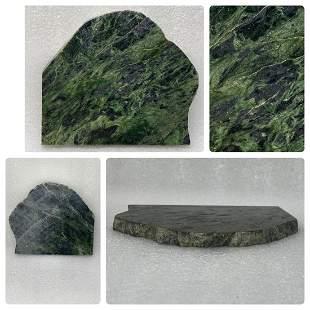 Flat green jade slate