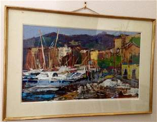 """Anton Sipos - Oil Painting """" Cassis"""""""
