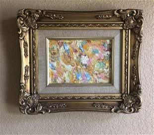 Impasto oil painting on canvas