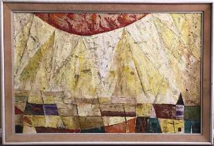 Yochanan Ben Ya'akov (Israeli)-o 1962 Painting