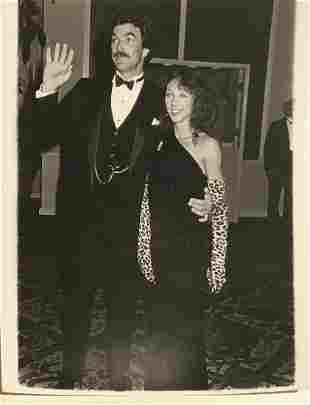 Tom Selleck and date Jilly Mack 1984 - photographers