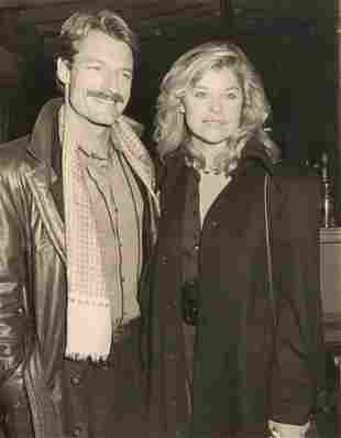 Perry King and date Kate Vernon - 1987 photographer