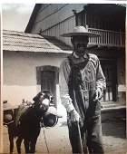 Marguerite Baker Johnson - RARE - large photo Man with