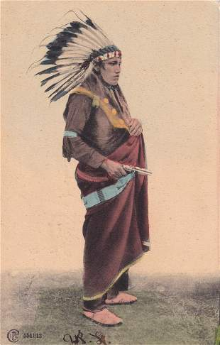 Indian Chief with Gun