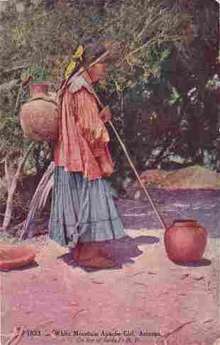White Mountain Apache girl-Arizona