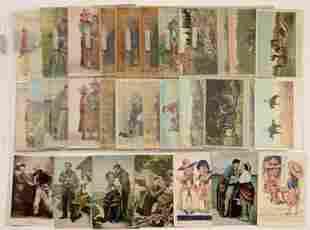 Comic postcards - cowboy series (Lot of 42)
