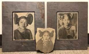 3 Hopi Maiden Slates & Sandstone