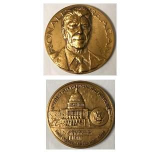 Ronald Regan Bronze Medallion