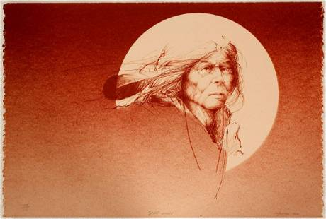 Spirit Moon - Serigraph by Mike Larsen