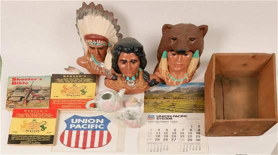 Inlay Native American Portrait
