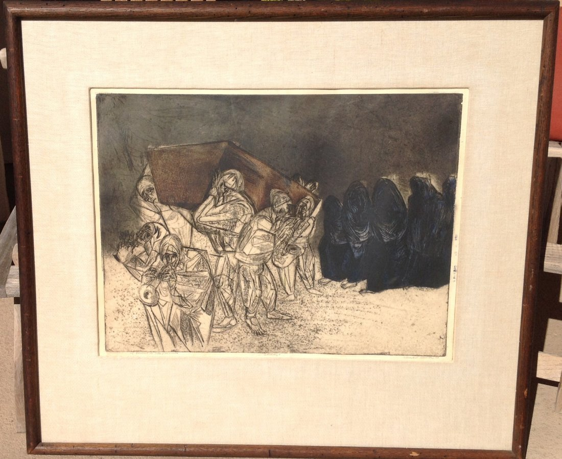 Vincent P. Rascon -(passed away in 2012)  Etching 1959, - 3