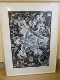 SAM FRANCIS Signed -Color Aquatint -SFE.012 RARE