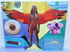 Artist: John Parnell- Abstract Painting on Canvas -