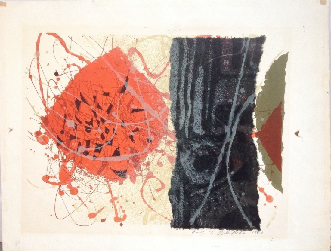 TETSUO OCHIKUBO - Color Lithograph 1960