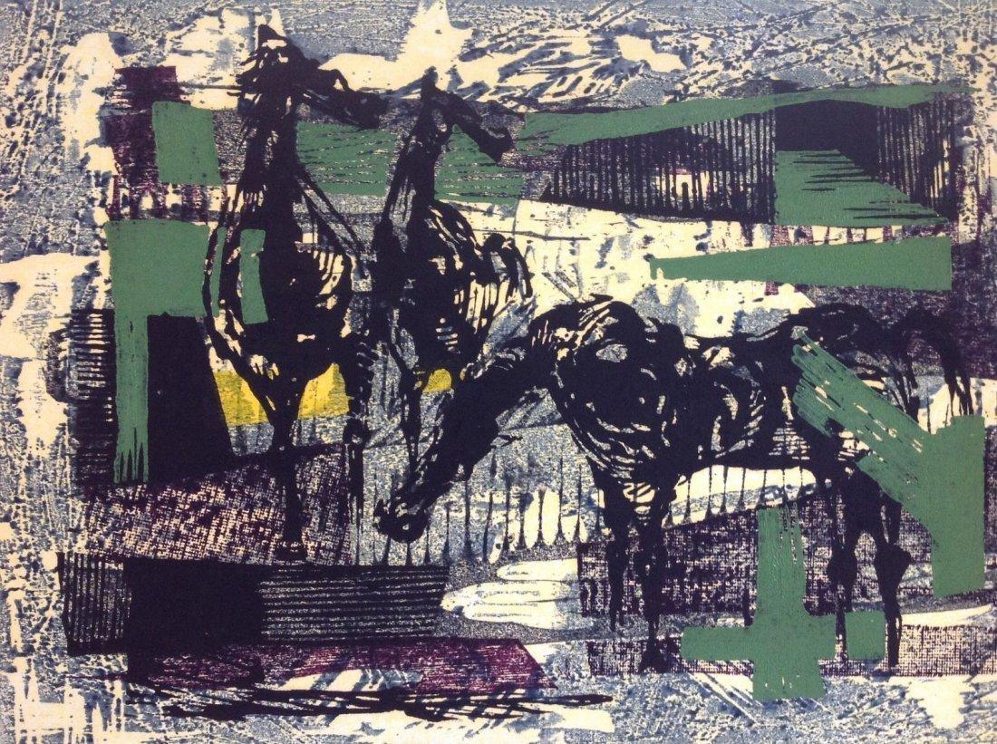 TAMAMI SHIMA (b. 1937-1999) JAPANESE- Woodblock 1961 - 4