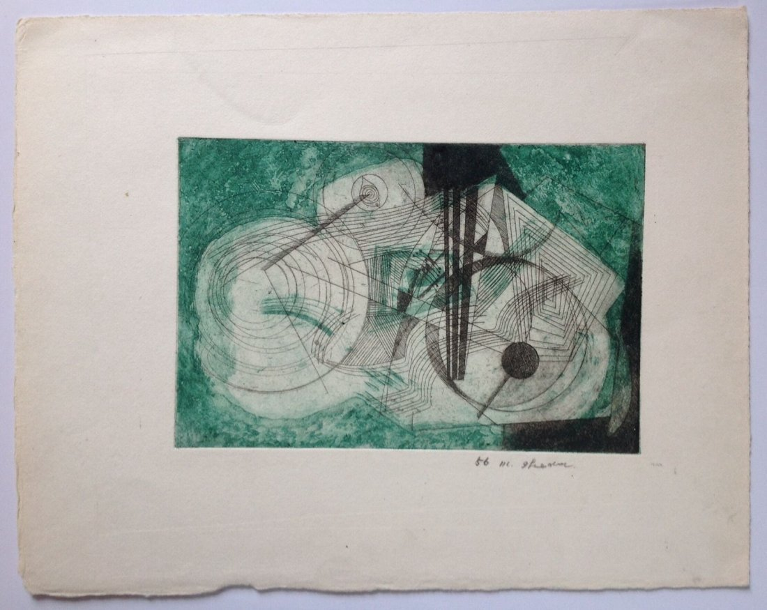MASUO IKEDA ( 1934-1997) - Color Etching 1956