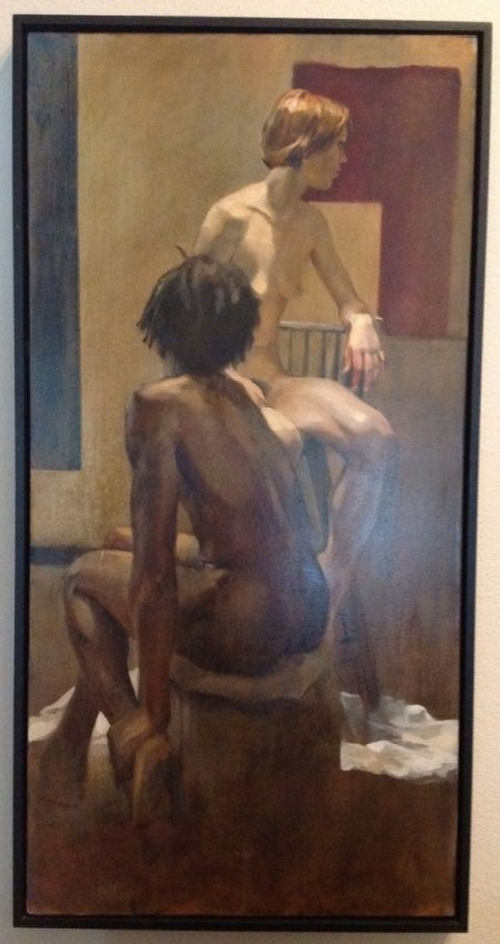 """GEOFFREY LAURENCE Oil Painting-""""Life Study"""" Signed / - 3"""