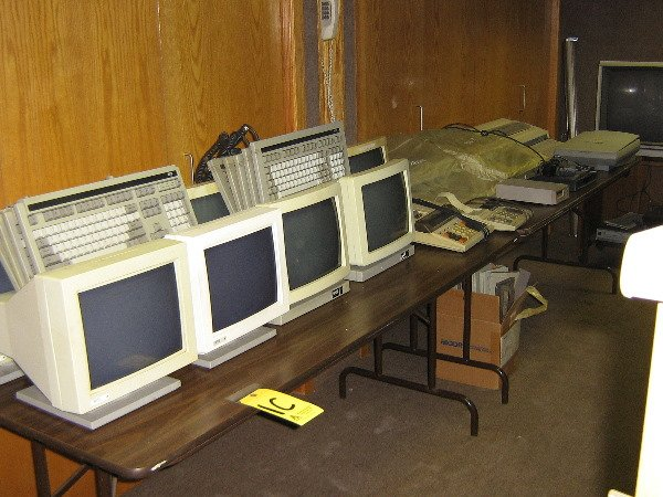 2: All computer equip on top of conference table