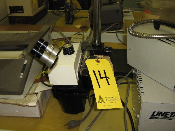14: Bausch & Lomb stereo inspection microscope