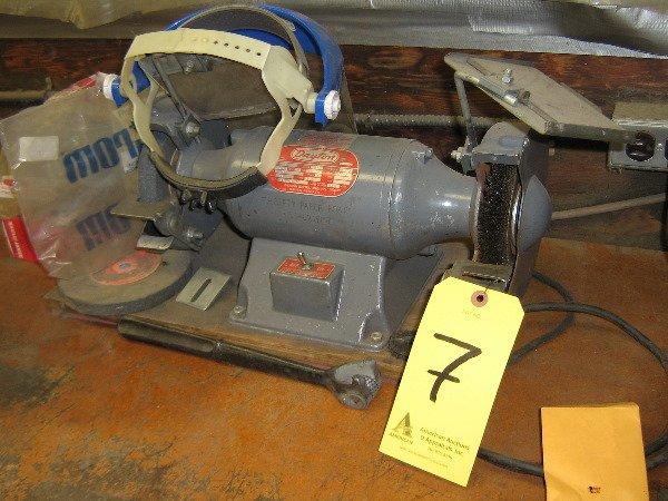 """7: Dayton bench grinder w/6"""" wheels"""