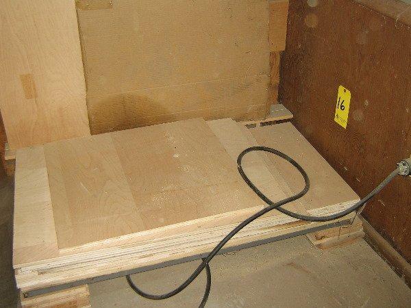 16: Lot of die plywood