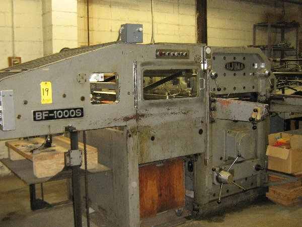 19: Iijima die cutter, uplifting, model BF-1000S 28x40,