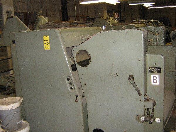 23: Krause auto feed die cutters, model C64-50ZI, 19x25
