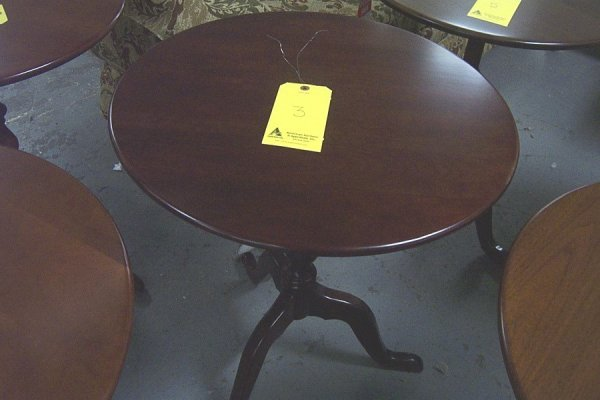 """3: Trad. candle stand, dark cherry, style 4118, 20""""dia"""