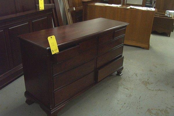 11: Chippendale. double dresser, dark cherry
