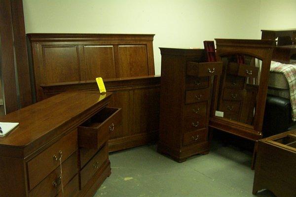 12: Louis Phillipe double dresser, hidden drawer, cherr