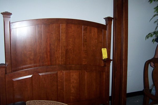 22: Country arch panel bed, full, cherry, style 5237, F