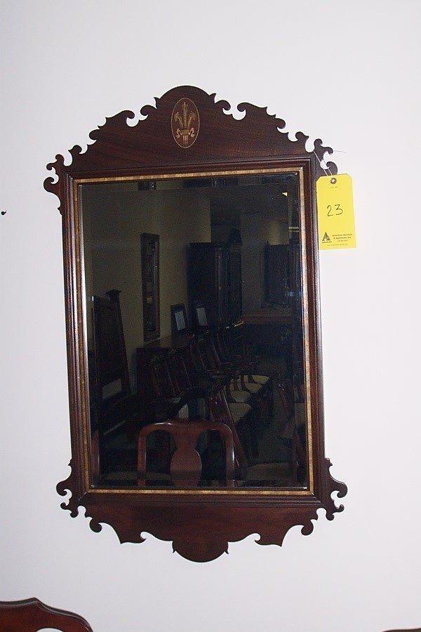 23: Chippendale mirror, large, beveled, walnut, style 2