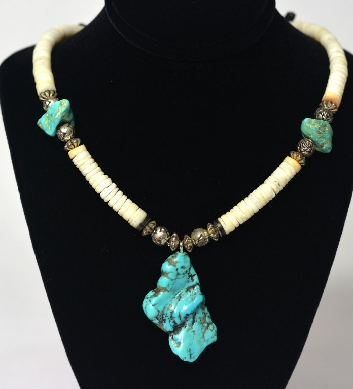 American Indian Navajo Turquoise Necklace