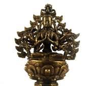 Chinese Gilt Bronze Buddha Figure Qing Dynasty