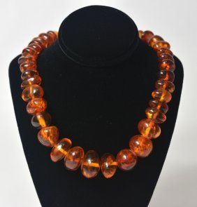 Old Natural Amber Necklace