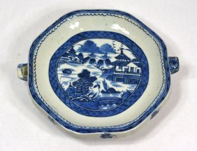 Chinese Blue & White Procelain Food Warmer Plate