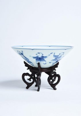 Important Chines Blue & White Procelain Bowl Qingd
