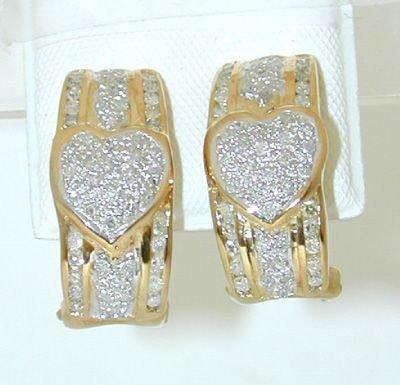 6508: 14K Gold Earring w/ Diamond