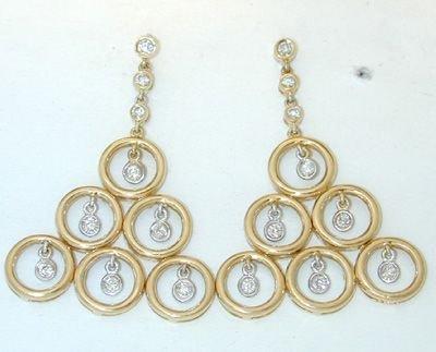 6521: SALAVETTI 18K Gold Diamonds Earrings