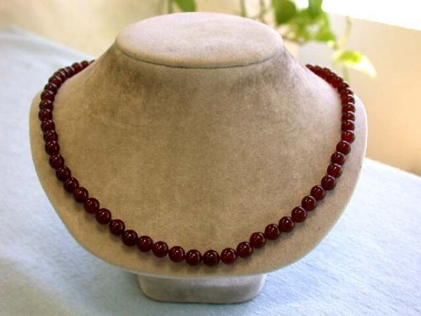 6523: Coffee Brown Colored Gemstone with Silver Clasp