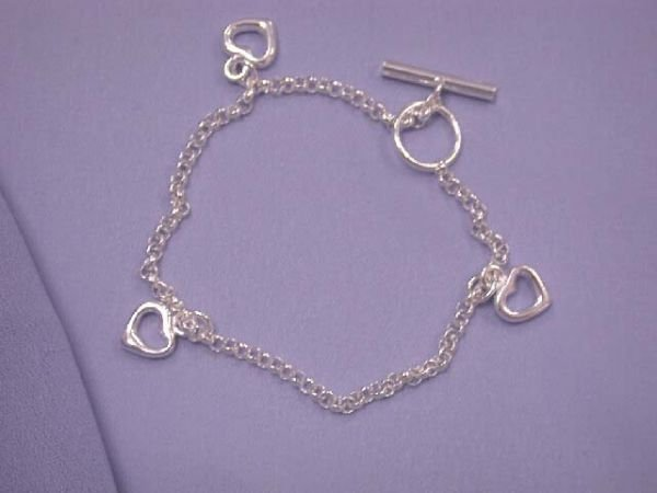 6503: Heart Charm Bracelet made in ITALY