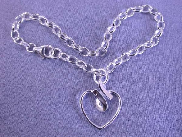 6509: Silver Heart Bracelet made in Italy