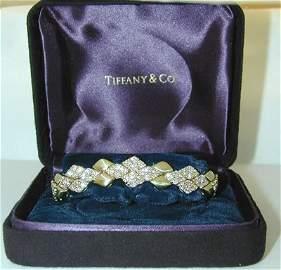 7356: TIFFANY & CO 18K Gold Diamonds Bracelet