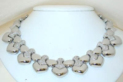 8380: MARINA B 18K White Gold Diamonds Necklace