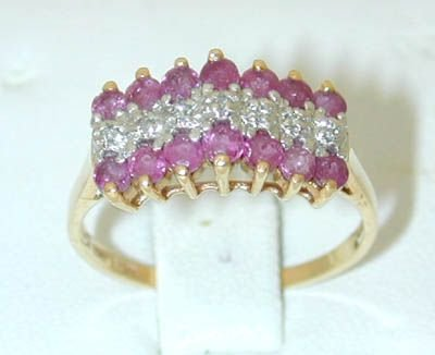 7505: 10k 2 Tone Gold Ruby Ring