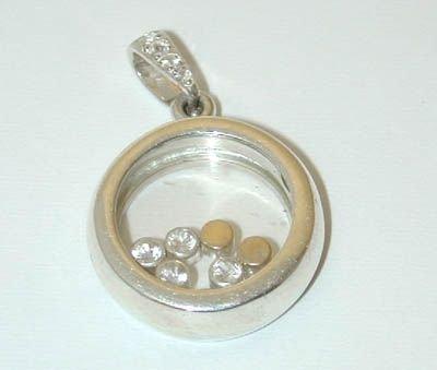 7512: Silver White Sapphires Pendant