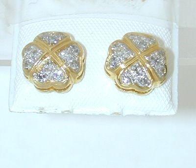 7526: 14K Gold Earring w/ Diamond