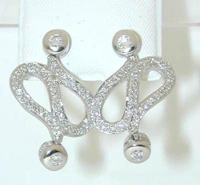7538: 18K White Gold Diamonds Earrings