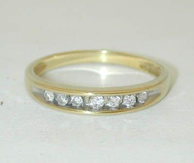 8517: 10K Gold Diamonds Ring